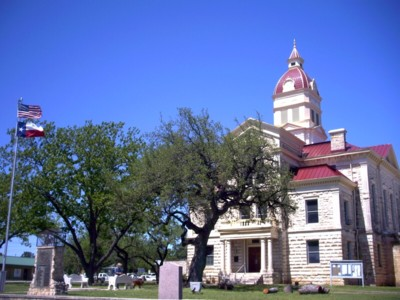 Texas Hill Country, Bandera County, Bandera Courthouse in Bandera Texas