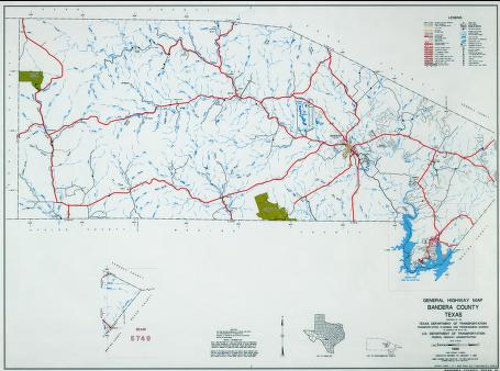 map of Bandera Texas Hill Country
