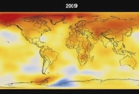 Climate change information are published by many institutions. Here from NASA: look at this climate change map that shows the world temperatures changing during time, earth is endangered, climate change will affect our life, endangers human future