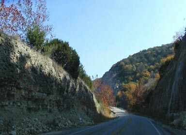 Road cuts are not natural, deep scares cut into 