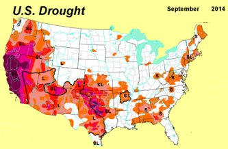 BSB environmental news: extreme drought, some call it exceptional drought destroys Nature in the southern US States  endangering humans, wildlife, trees plants, flora, fauna