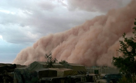 Conservation education online Pollution facts: dust storm will be seen more often because of changing climate, changing violent weather. The US had to face several dust storms, climate change caused by pollution in progress