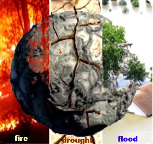 Online BSB conservation education on how humans pollute Earth: Pollution causes droughts, fires, floods, high food prices. There are different kind of pollution