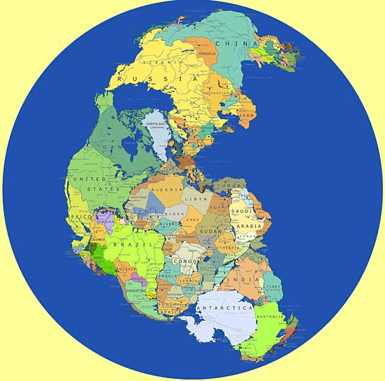 BSB geology of Earth Pangaea, Gondwana, geological names when all continents were together