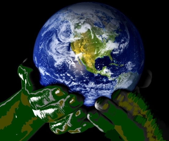 the future of earth lies in our hands,