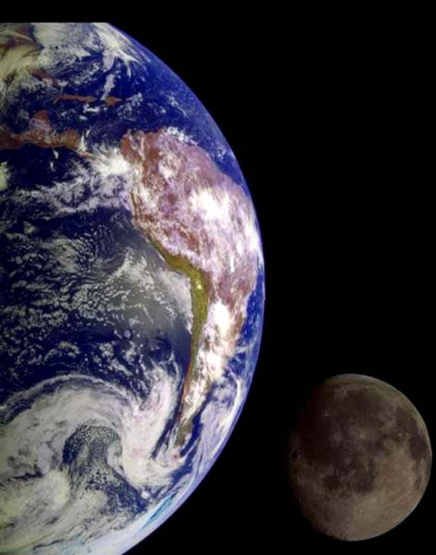 Nature education Science: The mass of the moon stabilizes earth, gravity allows life on Earth to be sustainable. Earth's moon sustains life on Earth