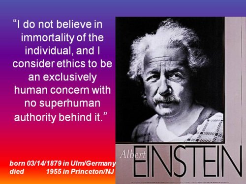 Philosophy ethics education: opinion of Albert Einstein about Ethics