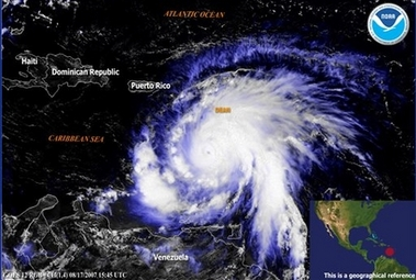 hurricane Dean, hurricane Katrina, hurricane Ike were causing a lot of damage and endangered many animals and plants