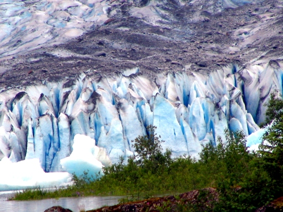 part of nature are glaciers, during different times in Earth history, more or less glaciers existed on Earth, providing water, reflecting sunlight, balancing weather