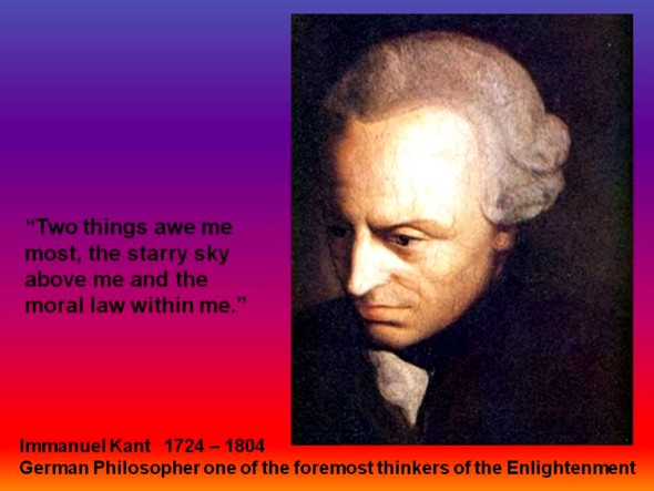 Immanuel Kant was asked in 1784 about the meaning of enlightenment:�Enlightenment is man�s emergence from his self-incurred immaturity
