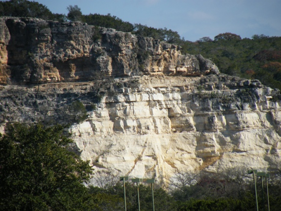 The Texas Hill Country has a very special geological history. Soil is transported by rivers into the gulf of Mexico, leaving limestone habitats. Hills are carved by erosion, not by being pushed up and folded. Water seeps into limestone building caves