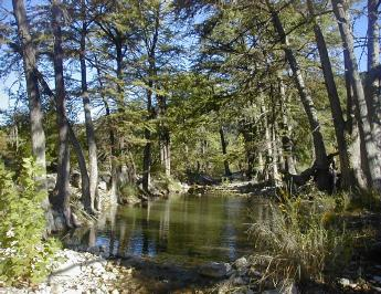 Medina River in Bandera County Texas clean, healthy, natural