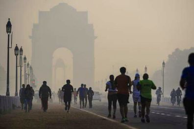 air pollution in India, similar looks of polluted air in China, Poland