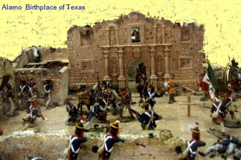 Alamo San Antonio Texas scene of battle. Birthplace of Texas with the heroic battle at the Alamo mission
