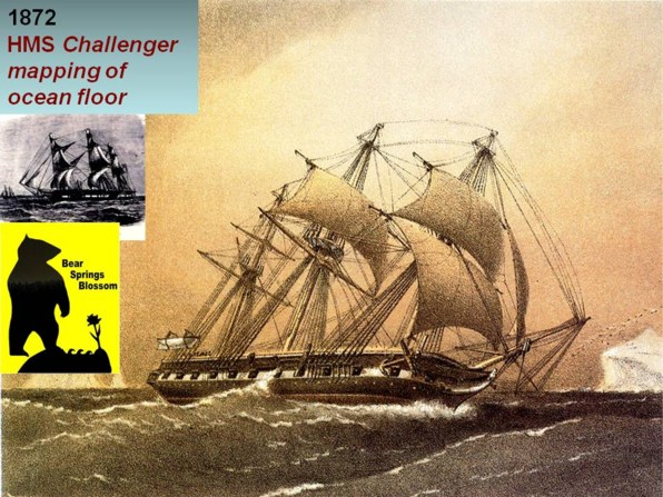the Atlantic ocean was intensively explored by HMS Challenger