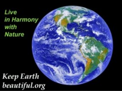 keep earth beautiful with nature conservation, look at earth from space