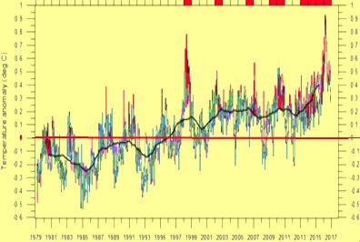 BSB Environmental conservation education online: Chart showing the rising temperatures on Earth in the last 37 years. Bear Springs Blossom Nature Education, protection of air, for all life, flora + fauna on Earth = human protection, because humans need healthy air. Science based Nature education about water + air on Earth = human protection, education of  soil on Earth = human protection. Learn online about nature conservation, how to update your knowledge, how to understand weather, floods, earthquakes and storms. Biology teaches that life on earth depends on plants, that produce oxygen, provide food. BSB Environmental conservation education online: Bear Springs Blossom Nature Conservation BSB offers science based nature education. To understand Earth's natural environment we need to learn and study. earth is our only home, the blue planet we need to survive - Nature education on air. Get science based facts. BSB has to report bad behavior, destruction of nature, polluting air, soil and water, all the time. News on Ocean conservation + Water conservation is needed for protection of all life, flora + fauna on Earth. News on environmental changes in oceans worldwide hint to the coming changes for humans. Nature conservation news tells you about Earth' environment. Environmental news to protect air + water + soil + food. BSB-research published in these news helps to keep Nature beautiful + to secure our future to give people a better life!