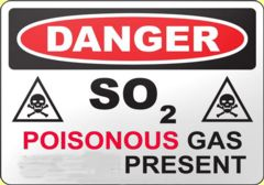sulfur dioxide is poison for men and animals