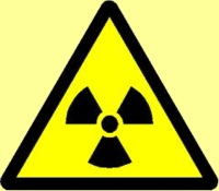 conservation education on nuclear energy: radiation sign, a warning that radiation is emitted