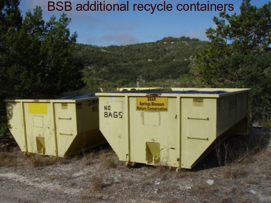 BSB recycle containers roll on the trailer helping to bring recycled materials to recycling companies