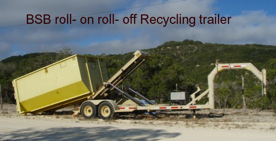 BSB recycle roll-on roll-off trailer 16000 lbs load capacity helps to bring recycled materials to recycling companies