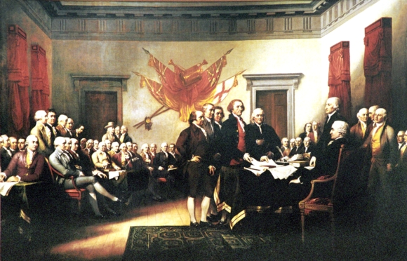 BSB Conservation education class room history: declaration of independence United States of America to protect the people a lot of brain was used - ideas of Kant and Horace and Montesquieu were used to find the right words for this declaration: sapere aude