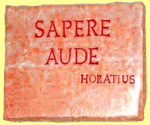 BSB philosophy supports the latin outcry Sapere Aude, have the courage to use your brain. Horace used this sentence in a poem 20 BC