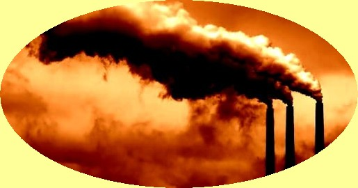 smokestacks from industry and coal fired powerplants are the worst polluters, endangering life on Earth