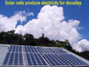 What you can do: solar PV photovoltaic system to produce renewable energy, to secure our future, to lower the impact of climate change. Read more what you can do in Bear Springs Blossom nature encyclopedia