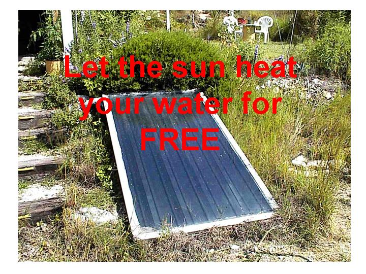 water heating panels are heating your water with renewable energy, so you save money on your electricity bill
