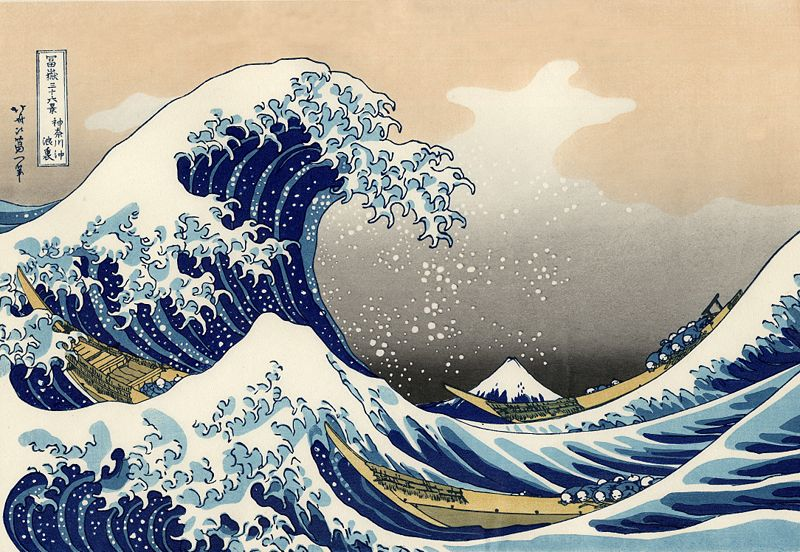 Water was always important to humans and fascinated many artist. This painting The Great Wave off Kanagawa is a beautiful example how water impresses an artist