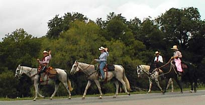 Western Trail with horseback riders